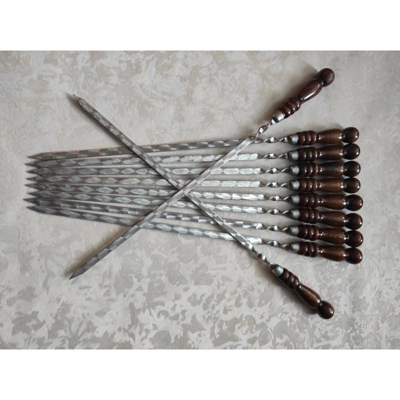 Шампур с деревянной ручкой 400 мм.
