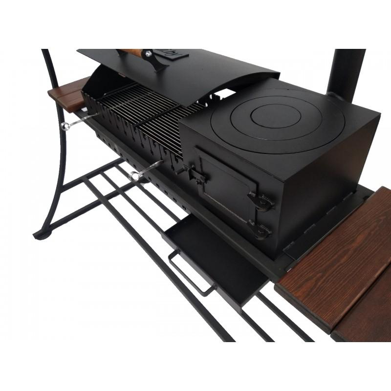 Мангал - барбекю - печь под казан BXXXL с крышей