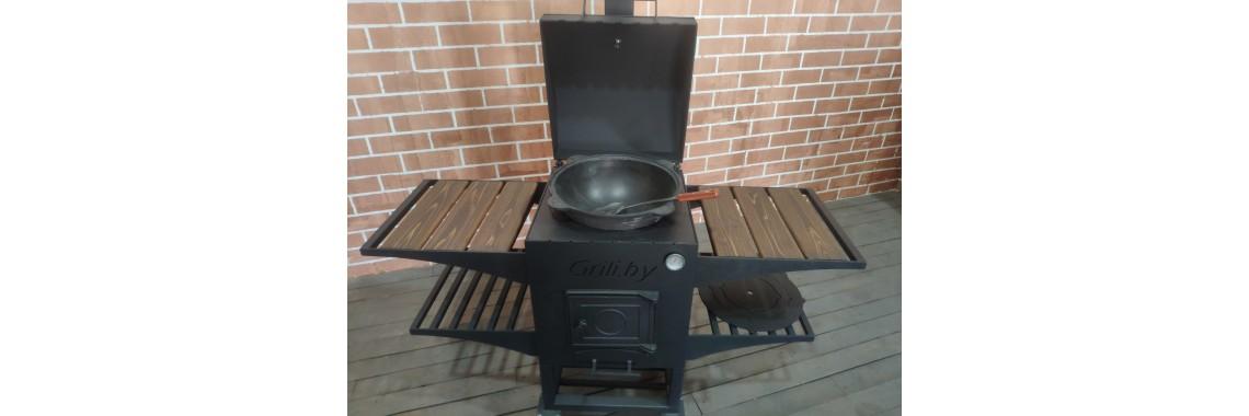 Мангал - барбекю - печь под казан GL